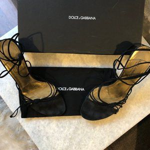 Dolce and Gabbana Lace up Heels- size 36.5